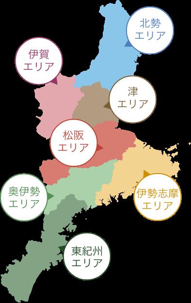三重県のエリアマップ